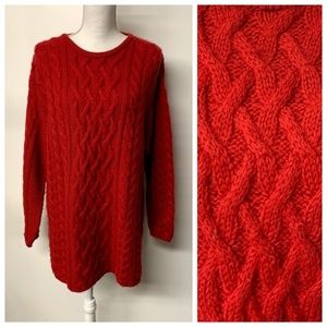 Aran Crafts Ireland Fluffy Cable Knit Sweater
